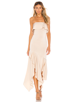 Gold Rush Gown In Macadamia Nude by Nbd
