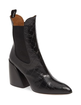 Croc Embossed Chelsea Boot by ChloÉ