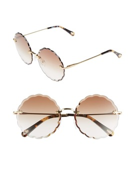 Rosie 60mm Scalloped Rimless Sunglasses by ChloÉ