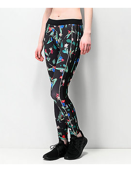 Adidas Floral Black Leggings by Adidas