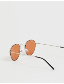 Burton Menswear – Runde Sonnenbrille In Silber by Asos