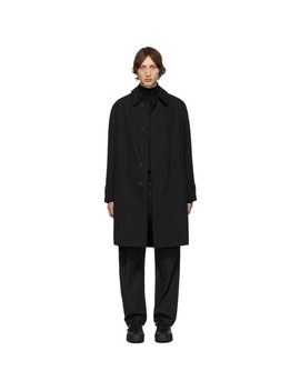 Black Oversized Coat by Schnayderman's