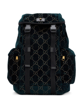 Blue Velvet Medium Gg Backpack by Gucci