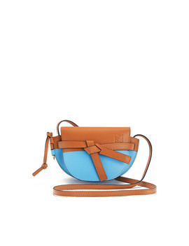 Gate Colour Block Mini Bag 				 				 				 				 				 				 				Tan/Sky Blue by Loewe
