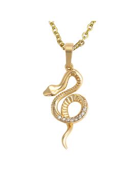 Snake Cz Necklace by Bohomoon