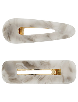 2x Resin Mixed Shape Hair Clips by Accessorize