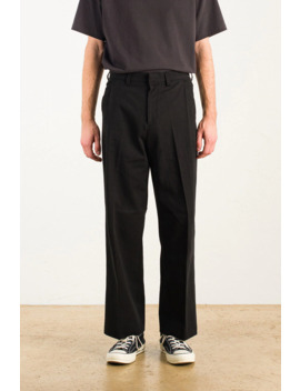 Menswear | Pleated Twill Pants, Black by Olive