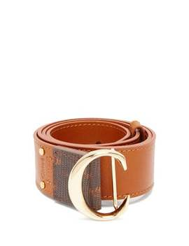 C Buckle Leather Belt by Chloé
