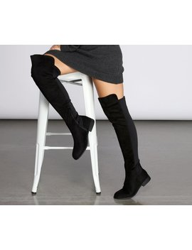 Flat Thigh High 50/50 Boots by Windsor