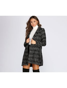 Boucle Belted Blazer Trench by Windsor