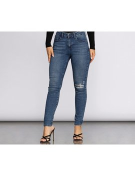 Mid Rise Skinny Jeans by Windsor