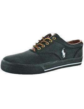 Polo Ralph Lauren Mens Vaughn Black Fashion Sneakers 7 Medium (D) Bhfo 0859 by Polo Ralph Lauren