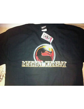 Mortal Kombat Logo Style #2 (Across) Black Hot Topic Tee Shirt Adult Sizes Nwt by Hot Topic