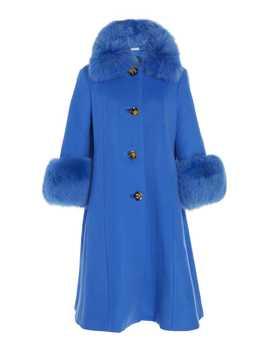 Yvonne Fur Trimmed Wool Coat by Saks Potts