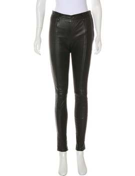Mid Rise Leather Leggings by Tom Ford