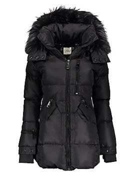 Cruiser Fur Trim Down Puffer Coat by Sam.