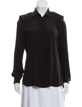 Silk Button Up Blouse by Tom Ford
