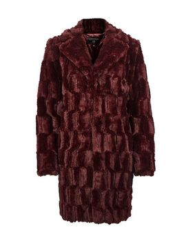 Berry Squiggle Faux Fur Coat by Dorothy Perkins
