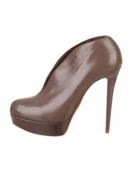 Leather Platform Booties by Christian Louboutin