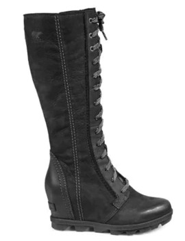 Joan Of Arctic Wedge Ii Leather Tall Boots by Sorel