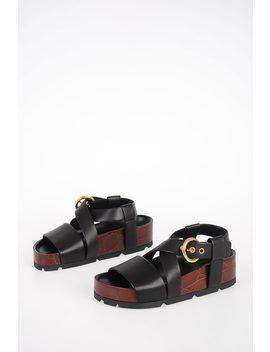 Nappa Boxy Sandals by Celine