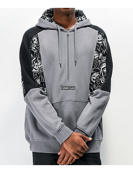 Lurking Class By Sketchy Tank Reaper Grey & Black Hoodie by Lurking Class By Sketchy Tank