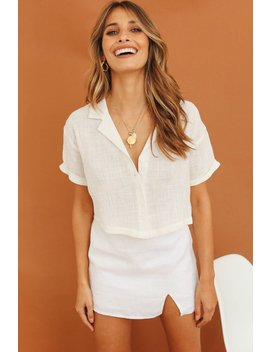 Guide To London Button Front Top // White by Vergegirl