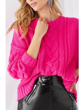 Multi Stitch Round Neck Sweater by Forever 21