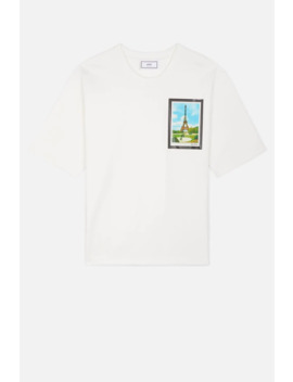 T Shirt With Postcard Print by Ami Paris
