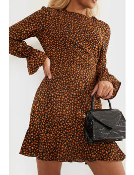 Leopard Print Open Back Mini Dress by In The Style
