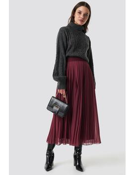 Pleated Long Skirt Röd by Na Kd