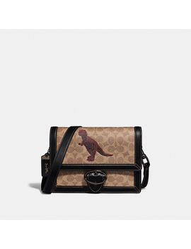 Riley Crossbody 24 In Signature Canvas With Rexy By Sui Jianguo by Coach