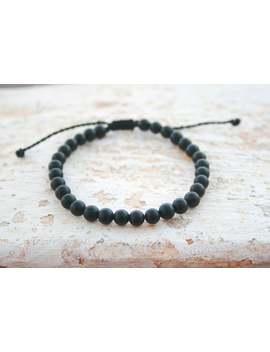 Leo Zodiac Stone , Men Healing Bracelet, Man Bead Bracelet, Black Bead Bracelet, Matte Onyx, Men Gift, Birthday Gift, Unisex, Bead 6mm, * by Etsy