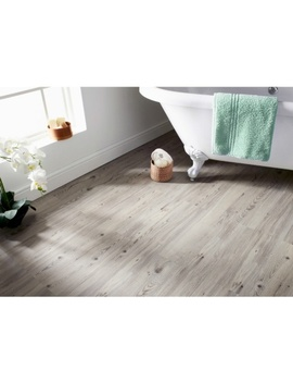 Self Adhesive Wood Effect Floor Planks   Grey by B&M