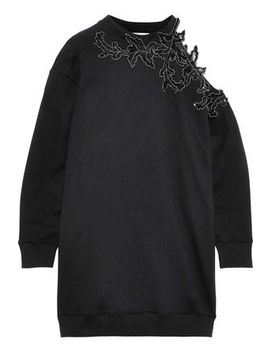 Cutout Embellished French Cotton Terry Mini Dress by Christopher Kane