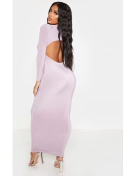 Shape Mauve Slinky High Neck Backless Maxi Dress by Prettylittlething