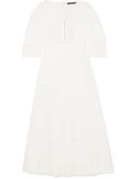 Broderie Anglaise Midi Dress by Alexachung