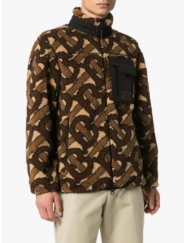 Monogram Pattern Fleece Jacket by Burberry