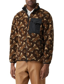Southmead Monogram Fleece Jacket by Burberry