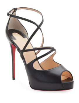 Holly Crisscross Red Sole Sandals by Christian Louboutin
