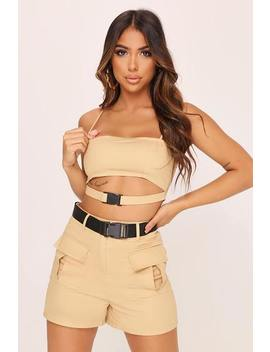 Khaki Buckle Crop Top by I Saw It First