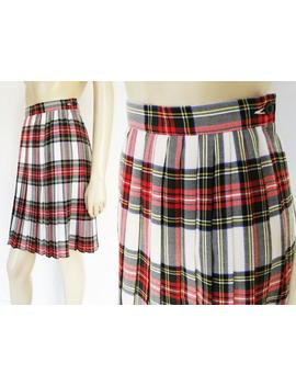 Red Tartan Skirt, Uk6 Harajuku Skirt, School Skirt, Tartan Kilt, Women's Tartan Skirt, Schoolgirl Skirt, Plaid Skirt, Knee Length Skirt by Etsy