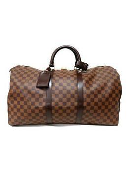 Louis Vuitton Keepall 50 Boston Hand Bag N41427 Damier Brown Used Vintage Lv by Ebay Seller