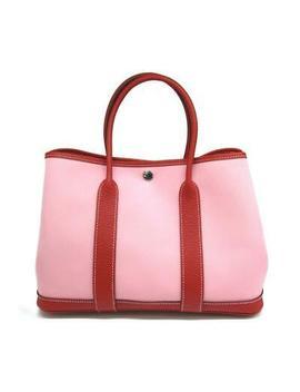 Hermes Garden Tpm Hand Bag Officier/Count<Wbr>Ry Leather Rose Sakura/Rouge Duchesse by Ebay Seller