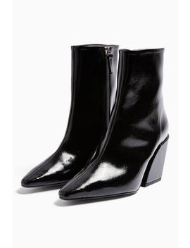 Valencia Vegan Black Western Boots by Topshop