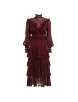 Espionage Lace Panel Dress by Zimmermann