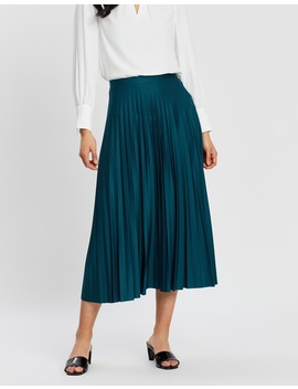 Jersey Pleat Midi Skirt by Dorothy Perkins