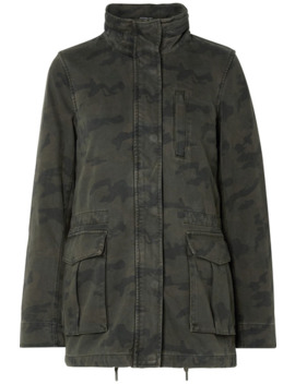 Camouflage Print Cotton Jacket by James Perse