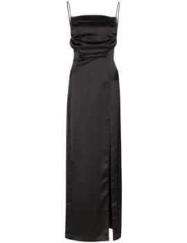 Removable Sleeve Satin Dress by Matériel