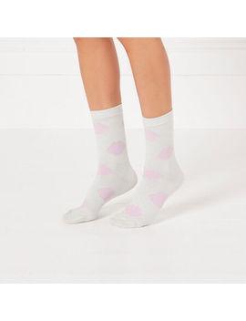 Silver Lip Sock by Lulu Guinness